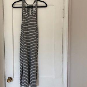 GAP Gray and white dress